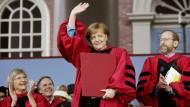Sorgte mit ihrer Rede in Harvard für Begeisterung: Kanzlerin Angela Merkel.