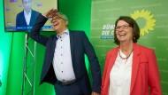 Glänzende Aussichten: Die Grünen-Spitzenkandidaten Priska Hinz und Tarek Al-Wazir können sich über die Wähler-Analyse der Europawahl freuen