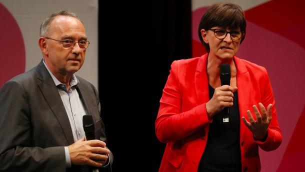 Walter-Borjans und Esken planen kein schnelles Groko-Aus