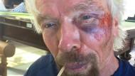 Richard Branson übersteht Verkehrsunfall