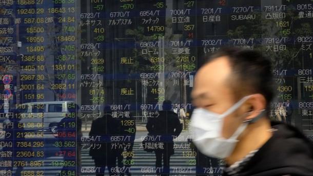 Corona-Krise drückt Stimmung an asiatischen Börsen