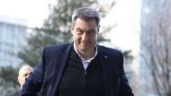 Markus Söder vor der CSU-Vorstandssitzung am 17. Februar in München