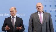 Liefert ein Gegenmodell zu den Plänen von Finanzminister Olaf Scholz (l., SPD): Wirtschaftsminister Peter Altmaier (CDU)