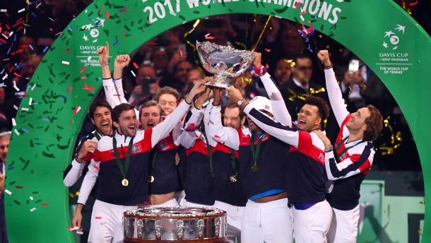 Frankreich zum zehnten Mal Davis-Cup-Sieger