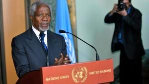 Annan schlägt Assad von UN überwachte Waffenruhe vor