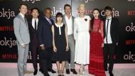 "Brad Pitt stellt Netflix-Produktion ""Okja"" vor"