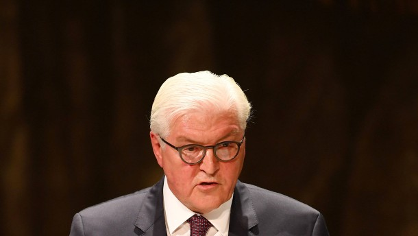"""Steinmeier beklagt """"diffusen Hass"""" in der Gesellschaft"""