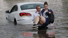 WM-Spielort unter Wasser