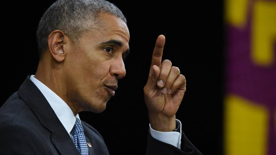 Klare Worte an den designierten Nachfolger: Barack Obama fürchtet einen Kurswechsel in der amerikanischen Politik