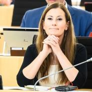 Janine Wissler (Die Linke), Fraktionsvorsitzende ihrer Partei in Hessen