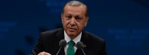 Der türkische Präsident Recep Tayyip Erdogan spricht am Donnerstag auf einem Treffen der Balkan Federation.