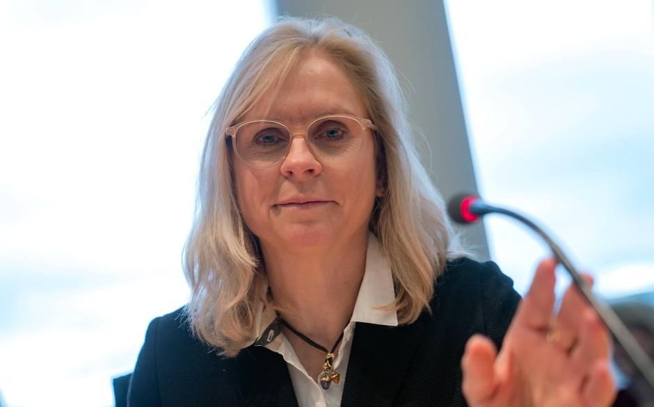 Die CSU-Politikerin Andrea Lindholz am Mittwoch bei einer Innenausschusssitzung zum Datendiebstahl