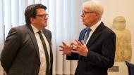 Der Rechtsanwalt und Werder-Funktionär Hubertus Hess-Grunewald und der DFL-Präsident Reinhard Rauball.