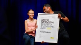 Amnesty International ehrt Greta und Fridays for Future