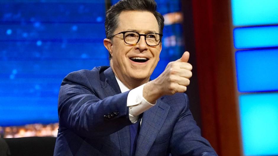 Stephen Colbert verabschiedet sich von Anthony Scaramucci