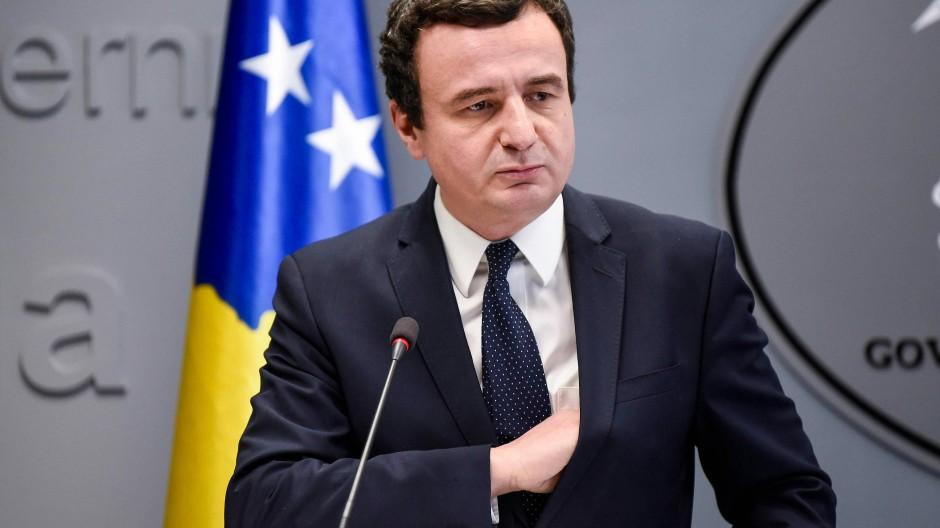 Ministerpräsident Albin Kurti: Sturz nach sechs Wochen