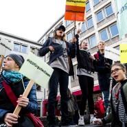 Schmeckt uns nicht: Schon 2018 kam es an der IGS Nordend zu Protesten gegen den Schul-Caterer.