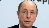Bei einer Pressekonferenz in Berlin: Berthold Leibinger im Jahr 2005