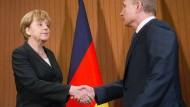 Merkel empfängt Putin am Mittwoch
