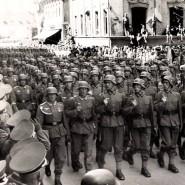 Eine Parade der deutschen Wehrmacht