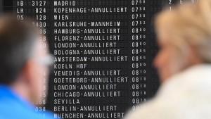 Hunderte Flugzeuge starten oder landen nicht in Frankfurt