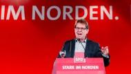 Der Landesvorsitzende der SPD in Schleswig-Holstein und stellvertretende Bundesvorsitzende Ralf Stegner