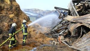 Brand auf Reiterhof nach 40 Stunden gelöscht