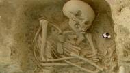 Ganz sicher ein Europäer: Das menschliche Skelett stammt von einer Ausgrabung im nördlichen Griechenland.