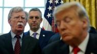 Vor einem knappen Jahr noch als Berater im Weißen Haus, jetzt ein verbitterter Feind des Präsidenten: John Bolton.