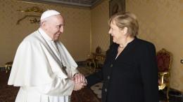 Angela Merkel zu Gast bei Papst Franziskus