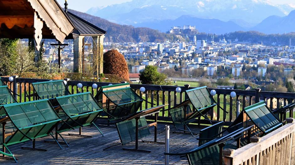 Noch geschlossen: ein Lokal auf dem Plainberg in Österreich