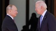 Russlands Präsident Wladimir Putin und sein US-Amtskollege Joe Biden