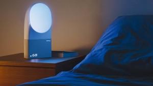 Morgens weckt das blaue Licht
