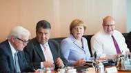 Weiter auf Kurs, trotz aller Kritik: Bundeskanzlerin Angela Merkel