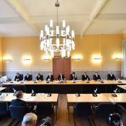 Beginn der Urteilsverkündung zum Paritätsgesetz im Thüringer Verfassungsgerichtshof