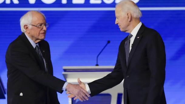 Sanders unterstützt Biden in den Präsidentschaftswahlen
