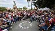 Pablo Iglesias, der Parteiführer der Links-Partei Podemos, bei einer Wahlkampfveranstaltung in Palma de Mallorca