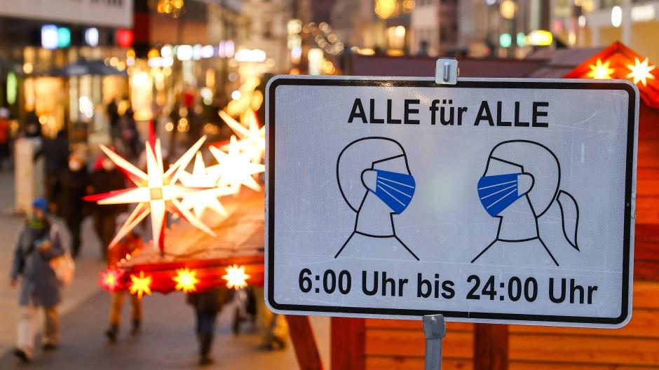 Maskenpflicht in Innenstädten wie hier in Leipzig