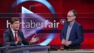 Die Journalisten Christoph Schwennicke und Frank Plasberg