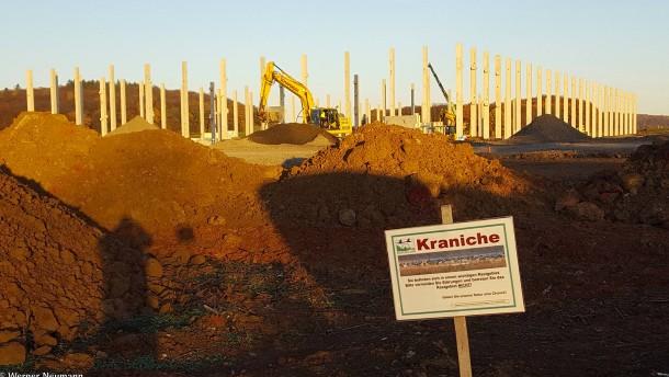 Baustopp für Verteilerzentrum in Echzell