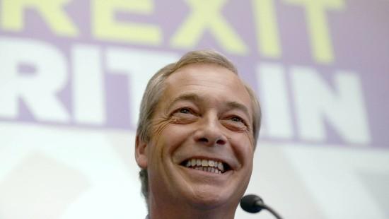 Ukip-Parteichef Nigel Farage tritt zurück