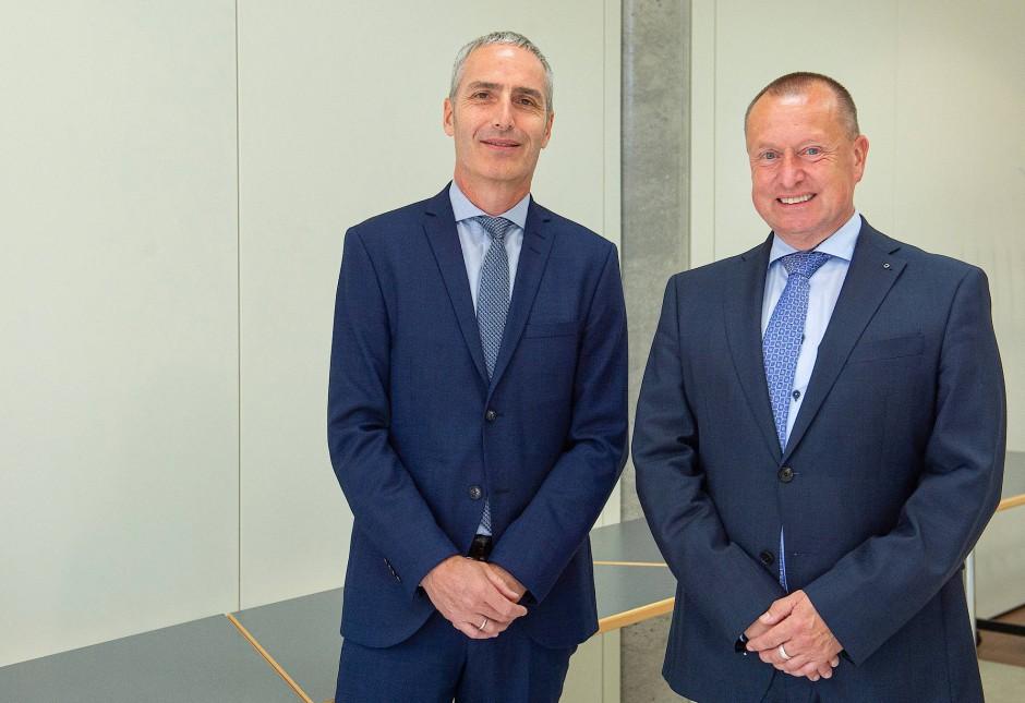 Axel Dornis (links) und Steffen Krollmann sind die beiden neuen Vorstände der Frankfurter Arbeiterwohlfahrt (Awo)