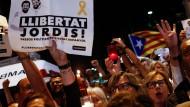 Katalanischer Protest gegen Verhaftung