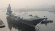Chinesischer Flugzeugträger auf Testfahrt