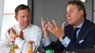Die Vorstandsvorsitzenden der ING: Roland Boekhout und Ralph Hamers (rechts)
