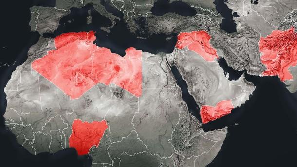 Die Grenzen des Terrorkalifats