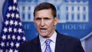 Der zurückgetretene Nationale Sicherheitsberater der amerikanischen Regierung, Michael Flynn, bei einer Pressekonferenz im Weißen Haus