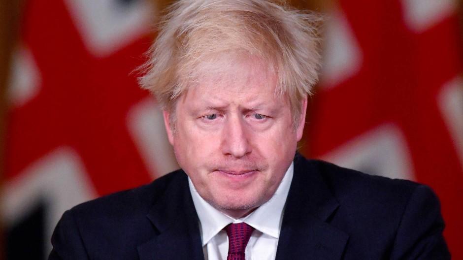 Der britische Premierminister Boris Johnson am Samstag