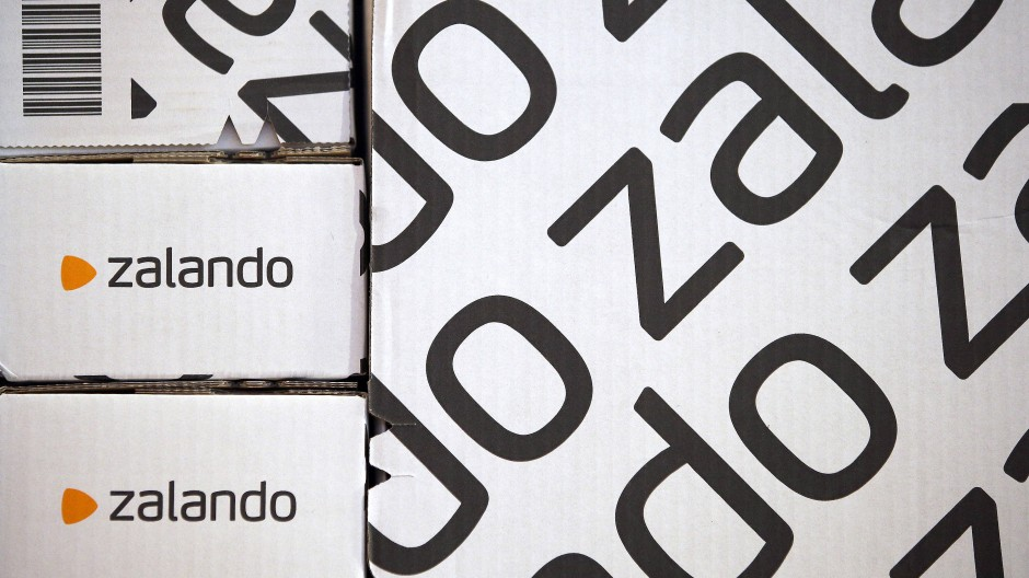 Versandpakete von Zalando