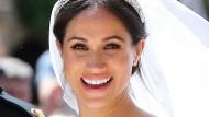 Strahlt nicht nur wegen Prinz Harry: Meghan Markle an ihrem Hochzeitstag